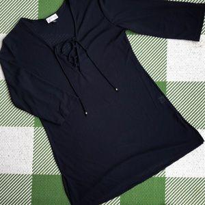 Lightweight see through dark blue nightgown